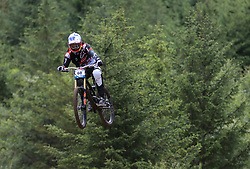 Aaron Gwin of The YT Mob during day two of the 2017 UCI Mountain Bike World Cup at Fort William. PRESS ASSOCIATION Photo. Picture date: Sunday June 4, 2017. Photo credit should read: Tim Goode/PA Wire. RESTRICTIONS: Editorial use only, no commercial use without prior permission