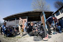 Service zone at Speedway Slovenian National Championships race, on April 17, 2010, in Sportni park Ilirija, Ljubljana, Slovenia. (Photo by Vid Ponikvar / Sportida)