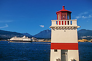 lighthouse at Brockton Point in Stanley Park<br /> Vancouver<br /> British Columbia<br /> Canada