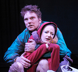 A Couple of Poor Polish Speaking Romanians<br /> at the Soho Theatre, London, Great Britain<br /> press photocall<br /> 4th March 2008<br /> <br /> Andrea Riseborough (as Dzina)<br /> Andrew Tiernan (as Parcha)<br /> <br /> <br /> Photograph by Elliott Franks