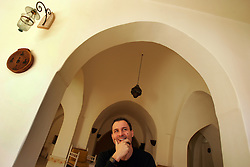 The architect and owner of the Al Deira Hotel is seen in Gaza, Palestinian Territories, Feb. 7, 2005. There is a rising Palestinian middle and upper class who are likely to have prominent roles in the developing peace process.