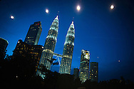 7th IAS Conference on HIV Pathogenesis, Treatment and Prevention (IAS 2013), Kuala Lumpur, Malaysia.<br /> Photo shows the the Petronas Twin Towers at night seen from the Kuala Lumpur Conference Centre.<br /> Photo©International AIDS Society/Steve Forrest/Workers' Photos