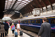 Paddington train station, London. This is one of the major London stations, servicing destinations to the north, west and east. The original roof structure creates a dramatic arrival for passengers.