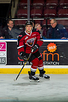 KELOWNA, BC - JANUARY 26: Aidan Barfoot #21 of the Vancouver Giants warms up against the Kelowna Rockets  at Prospera Place on January 26, 2019 in Kelowna, Canada. (Photo by Marissa Baecker/Getty Images)