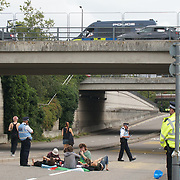 """2021-09-09 ExCeL London East Gate, London, UK. Migration, Borders and Anti-Racism Day of Action against the Defence and Security Equipment International ('DSEI') arms fair is one of the biggest arms fairs in the world sell weapons to """"divide and conquer"""" leaders all over the world loving its to buy imperlial western weapons to turn its own nation to a national cemetery. They believe that imperialism imposes democracy for human rights and freedom in their own independent nation."""