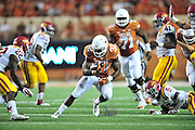 AUSTIN, TX - OCTOBER 18:  Johnathan Gray #32 of the Texas Longhorns breaks free against the Iowa State Cyclones on October 18, 2014 at Darrell K Royal-Texas Memorial Stadium in Austin, Texas.  (Photo by Cooper Neill/Getty Images) *** Local Caption *** Johnathan Gray