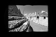 Alberobello, località pugliese famosa per i Trulli, durante il lockdown per l'emergenza sanitaria dovuta alla diffusione del virus Covid-19. Alberobello (BA) 8 Aprile 2019. Christian Mantuano / OneShot