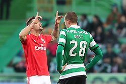 February 3, 2019 - Lisbon, Portugal - Benfica's Suisse forward Haris Seferovic celebrates after scoring a goal during the Portuguese League football match Sporting CP vs SL Benfica at Alvalade stadium in Lisbon, Portugal on February 3, 2019. (Credit Image: © Pedro Fiuza/ZUMA Wire)