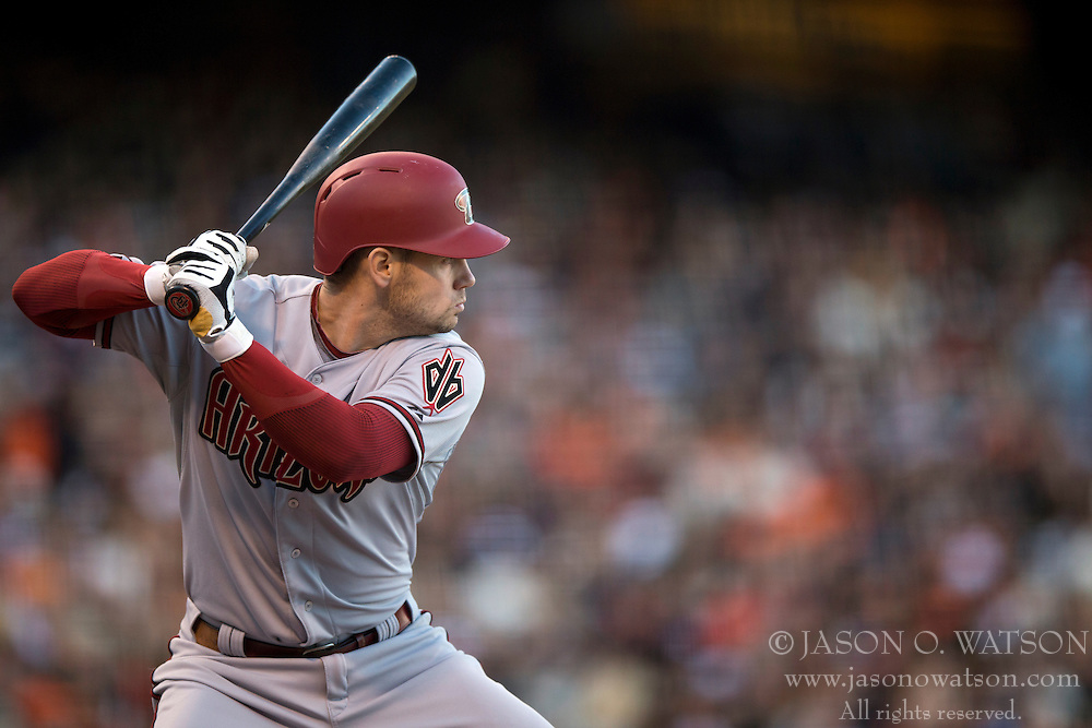 SAN FRANCISCO, CA - APRIL 18:  Chris Owings #16 of the Arizona Diamondbacks at bat against the San Francisco Giants during the second inning at AT&T Park on April 18, 2015 in San Francisco, California.  The San Francisco Giants defeated the Arizona Diamondbacks 4-1. (Photo by Jason O. Watson/Getty Images) *** Local Caption *** Chris Owings