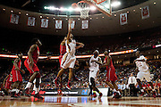 Trey Hall (4) of South Grand Prairie drives to the basket against Fort Bend Travis during the UIL 5A state championship game at the Frank Erwin Center in Austin on Saturday, March 9, 2013. (Cooper Neill/The Dallas Morning News)