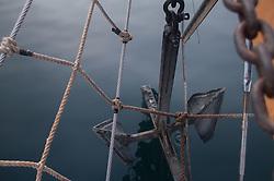 Anchor off Bowsprit, SV Maple Leaf, Gulf Islands, British Columbia, Canada