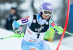 "Maze Tina (SLO) competes during FIS Alpine Ski World Cup 2014/15 5th Ladies' Slalom race named ""Snow Queen Trophy 2015"", on January 4, 2015 in Crveni Spust hill at Sljeme near Zagreb, Croatia.  Photo by Vid Ponikvar / Sportida"