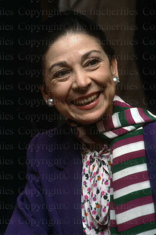 Dame Margot Fonteyn, British Prima Ballerina with the Royal Ballet Company. Seen here in London in 1979.
