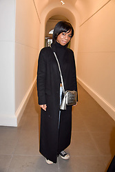 Pippa Bennett-Warner at a preview of the 'From Selfie To Self-Expression' exhibition at The Saatchi Gallery, Duke Of York's HQ, King's Road, London, England. 30 March 2017.