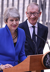 Phillip and Theresa May leave Downing Street for the last time. 24 Jul 2019 Pictured: Phillip and Theresa May leave Downing Street for the last time. Photo credit: ©stephenbutler / MEGA TheMegaAgency.com +1 888 505 6342