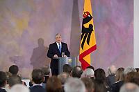 22 FEB 2013, BERLIN/GERMANY:<br /> Joachim Gauck, Bundespraesident, haelt eine Rede zu Europa, Schloss Bellevue<br /> IMAGE: 20130222-02-010<br /> KEYWORDS: Europarede, speech, Europe, Bellevue Forum