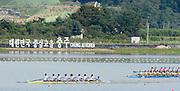 Chungju, South Korea.  Final Women's Eights, ITA W8+2013 FISA World Rowing Championships, Tangeum Lake International Regatta Course.15:53:20  Sunday  01/09/2013 [Mandatory Credit. Peter Spurrier/Intersport Images]<br /> <br /> 1USA W8+. Bow. Amanda POLK (b) , Kerry SIMMONDS (2) , Emily REGAN (3) , Lauren SCHMETTERLING (4) , Grace LUCZAK (5) , Meghan MUSNICKI (6) , Victoria OPITZ (7) , Caroline LIND (s) , Katelin SNYDER<br /> <br /> 2ROU W8+. Bow. Cristina ILIE (b) , Ionelia ZAHARIA (2) , Cristina GRIGORAS (3) , Ioana CRACIUN (4) , Camelia LUPASCU (5) , Andreea BOGHIAN (6) , Roxana COGIANU (7) , Nicoleta ALBU (s) , Daniela DRUNCEA.<br /> <br /> 3CANW8+. Bow. Lisa ROMAN (b) , Jennifer MARTINS (2) , Carolyn GANES (3) , Susanne GRAINGER (4) , Sarah BLACK (5) , Christine ROPER (6) , Natalie MASTRACCI (7) , Cristy NURSE (s) , Kristen KIT.<br /> <br /> 4.     GBRW8+. Melanie WILSON (b) , Caragh MCMURTRY (2) , Louisa REEVE (3) , Beth RODFORD (4) , Jessica EDDIE (5) , Zoe LEE (6) , Katie GREVES (7) , Olivia CARNEGIE-BROWN (s) , Zoe DE TOLEDO. <br /> <br /> 5AUSW8+. Bow. Hannah VERMEERSCH (b) , Renee CHATTERTON (2) , Peta WHITE (3) , Katrina BATEMAN (4) , Tess GERRAND (5) , Alexandra HAGAN (6) , Charlotte SUTHERLAND (7) , Lucy STEPHAN (s) , Elizabeth PATRICK.<br /> <br /> 6NED W8+. Bow. Marleen VERBURGH (b) , Kyra DE VRIES (2) , Aletta JORRITSMA (3) , Janneke VAN DER MEULEN (4) , Kirsten WIELAARD (5) , Dominique Van der PAUW (6) , Rosa BAS (7) , Heleen BOERS (s) , Jonna DE VRIES (c)