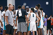 THOUSAND OAKS, CA Sunday, August 12, 2018 - Nike Basketball Academy. Ron Harper addresses team Harp during a timeout. <br /> NOTE TO USER: Mandatory Copyright Notice: Photo by Jon Lopez / Nike
