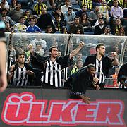 Besiktas's Mustafa ABI (2ndL) and Serkan ERDOGAN (L), Fedor LIKHOLITOV (R) during their Turkish Basketball league derby match  Fenerbahce Ulker between Besiktas at Sinan Erdem Arena in Istanbul, Turkey, Saturday, March 12, 2011. Photo by TURKPIX