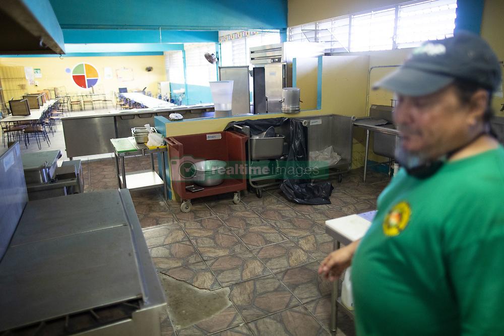 November 18, 2018 - Toa Baja, Puerto Rico - Toa Baja, Noviembre 18, 2018 - PR HOY - FOTOS para ilustrar una historia sobre el movimiento al Rescate de mi Escuela, que se prouso rescatar la Escuela Lorencita Ram'rez de Arellano de Levittown, cerrada en contra de  la voluntad de la comunidad. EN LA FOTO una vista del ‡rea del comedor escolar..FOTO POR:  tonito.zayas@gfrmedia.com.Ramon '' Tonito '' Zayas / GFR Media (Credit Image: © El Nuevo Dias via ZUMA Press)
