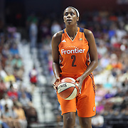 UNCASVILLE, CONNECTICUT- JULY 15:  Camille Little #2 of the Connecticut Sun shooting a free throw during the Los Angeles Sparks Vs Connecticut Sun, WNBA regular season game at Mohegan Sun Arena on July 15, 2016 in Uncasville, Connecticut. (Photo by Tim Clayton/Corbis via Getty Images)