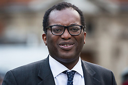 London, UK. 15th November, 2018. Kwasi Kwarteng, Conservative MP for Spelthorne, appears on College Green in Westminster following the Cabinet resignations of Brexit Secretary Dominic Raab and Work and Pensions Secretary Esther McVey the day after Prime Minister gained Cabinet approval of a draft of the final Brexit agreement