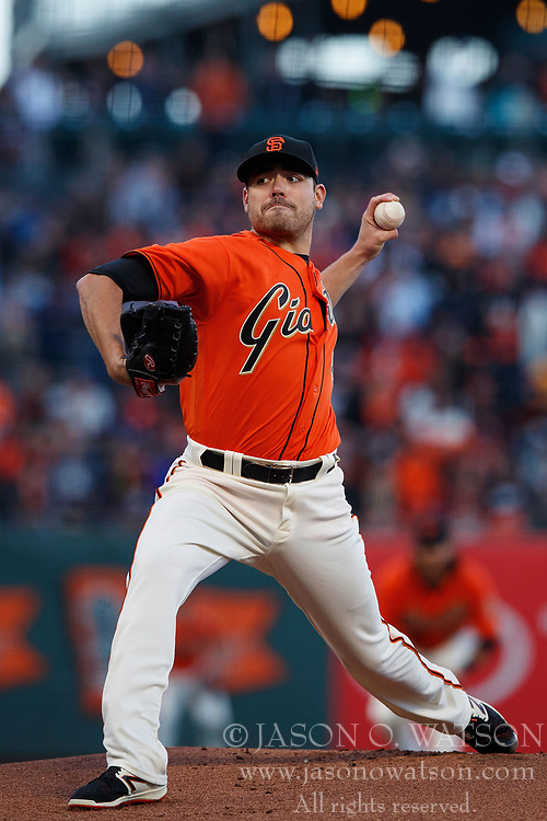 SAN FRANCISCO, CA - JUNE 09: Matt Moore #45 of the San Francisco Giants pitches against the Minnesota Twins during the first inning at AT&T Park on June 9, 2017 in San Francisco, California. The Minnesota Twins defeated the San Francisco Giants 4-0. (Photo by Jason O. Watson/Getty Images) *** Local Caption *** Matt Moore