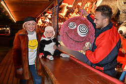 JAIME WINSTONE and her son RAYMOND at the Hyde Park Winter Wonderland - VIP Preview Night, Hyde Park, London on 17th November 2016.