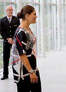 Crown Princess Victoria and Prince Daniel visiting AstraZeneca, Gothenborg 10-09-2015
