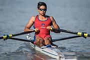 Plovdiv BULGARIA. 2017 FISA. Rowing World U23 Championships. <br /> CHI BLM1X. MEDINA BONILLA, Marcelo<br /> Wednesday. PM,  Heats 17:40:45  Wednesday  19.07.17   <br /> <br /> [Mandatory Credit. Peter SPURRIER/Intersport Images].