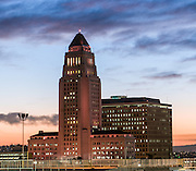 Los Angeles City Hall at Dusk