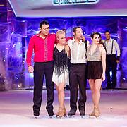 NLD/Hilversum/20130112 - 4e Liveshow Sterren Dansen op het IJs 2013, Mimoun Ouled Radi en schaatspartner Kellyn Koeplinger, Christophe Haddad en schaatspartner Lauren Farr