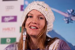 07-02-2011 SKIEN: FIS ALPINE WORLD CHAMPIONSSHIP: GARMISCH PARTENKIRCHEN<br /> Pressconference Julia Mancuso  from the US Ski team<br /> **NETHERLANDS ONLY**<br /> ©2011-WWW.FOTOHOOGENDOORN.NL/NPH-Mitchell Gunn