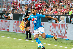 August 2, 2017 - Munich, Germany - Faouzi Ghoulam of Napoli during the Audi Cup 2017 match between SSC Napoli v FC Bayern Muenchen at Allianz Arena on August 2, 2017 in Munich, Germany. (Credit Image: © Paolo Manzo/NurPhoto via ZUMA Press)