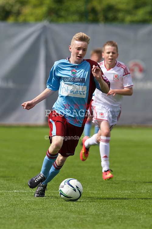 NEWPORT, WALES - Thursday, May 28, 2015: North WPL Academy Boys' Connor Randall during the Welsh Football Trust Cymru Cup 2015 at Dragon Park. (Pic by David Rawcliffe/Propaganda)