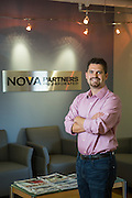 Partners of Nova Partners, Inc. pose for their headshots at the corporate office in San Francisco, California, on October 9, 2013. (Stan Olszewski/SOSKIphoto)