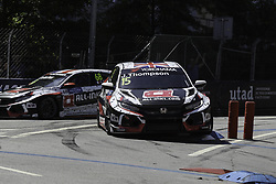 June 23, 2018 - Vila Real, Vila Real, Portugal - James Thompson from Great Britain in Honda Civic Type R TCR of ALL-INKL.COM Munnich Motorsport in action during the Race 1 of FIA WTCR 2018 World Touring Car Cup Race of Portugal, Vila Real, June 23, 2018. (Credit Image: © Dpi/NurPhoto via ZUMA Press)