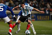 Fotball<br /> Frankrike v Argentina<br /> Foto: DPPI/Digitalsport<br /> NORWAY ONLY<br /> <br /> FOOTBALL - FRIENDLY GAMES 2008/2009 - FRANCE v ARGENTINA - 11/02/2009 - LASSANA DIARRA (FRA) / JONAS GUTIERREZ (ARG)