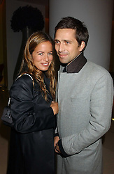 JADE JAGGER and DAN WILLIAMS at a Burns Night supper in aid of Clic Sargent & Children's Hospital Association Scotland hosted by Ewan McGregor, Sharleen Spieri and Lady Helen Taylor at St.Martin's Lane Hotel, 45 St Martin's Lane, London on 25th January 2006.<br /><br />NON EXCLUSIVE - WORLD RIGHTS