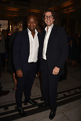 Ebs Burnough and Pierre Lagrange at the Balenciaga Shaping Fashion VIP Preview, The V&A Museum, London England. 24 May 2017.<br /> Photo by Dominic O'Neill/SilverHub 0203 174 1069 sales@silverhubmedia.com