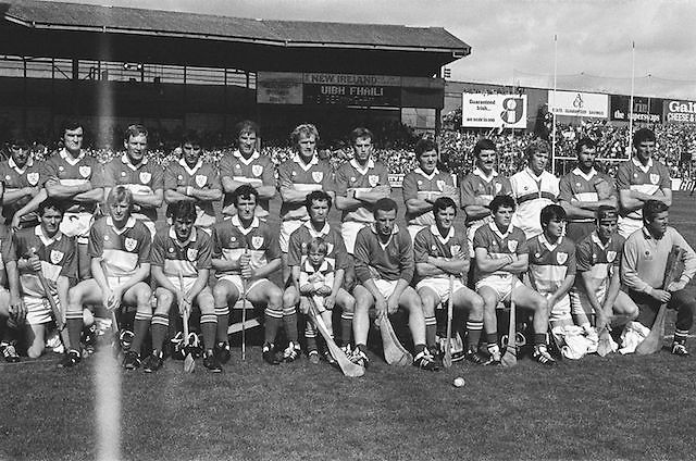 Offaly team at the All Ireland Senior Hurling Championship Final,.Galway Vs Offaly,Offaly 2-11, Galway 1-12, 1st September 1985.