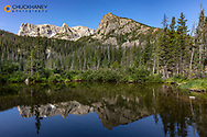 Fern Lake in Rocky Mountain National Park, Colorado, USA