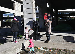 December 13, 2016 - Thessaloniki, Greece - As winter looms migrants from Afghanistan and Pakistan spend their day around a makeshift camp in an abandoned construction project in Thessaloniki as they wait for the next stages in their migration into Europe. Many of them have made it to more northern borders only to be sent back numerous times. (Credit Image: © ZUMA Wire via ZUMA Wire)