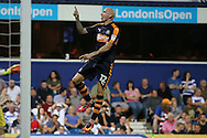 GOAL / CELE - Jonjo Shelvey of Newcastle United celebrates scoring his sides 3rd goal to make it 0-3.  EFL Skybet football league championship match, Queens Park Rangers v Newcastle Utd at Loftus Road Stadium in London on Tuesday 13th September 2016.<br /> pic by John Patrick Fletcher, Andrew Orchard sports photography.