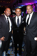 1 November 2010- New York, New York- l to r:  Chauncy Hamlett, Brand Manager, Grey Goose, Johnny L. Taylor, Jr., President, & CEO, and Sean Creighton at The Thurgood Marshall College Fund and Jeff Friday, CEO, FilmLife at The 23rd Annual Thurgood Marshall College Fund Awards Dinner held at The Sheraton NY Hotel & Towers on November 1, 2010 in New York City. Photo Credit: Terrence Jennings/Sipa