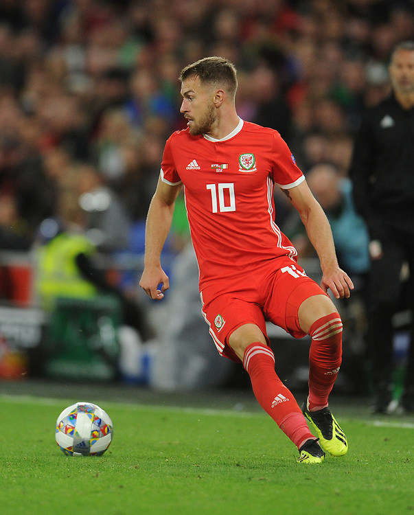 Wales' Aaron Ramsey<br /> <br /> Photographer Kevin Barnes/CameraSport<br /> <br /> UEFA Nations League - Group Stage - League B - Group 4 - Wales v Republic of Ireland - Thursday September 6th 2018 - Cardiff City Stadium - Cardiff<br /> <br /> World Copyright © 2018 CameraSport. All rights reserved. 43 Linden Ave. Countesthorpe. Leicester. England. LE8 5PG - Tel: +44 (0) 116 277 4147 - admin@camerasport.com - www.camerasport.com