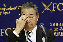 December 18, 2018 - Tokyo, Japan - Ex-Tokyo Governor SHINTARO ISHIHARA attends a news conference at The Foreign Correspondents' Club of Japan. Ishihara alongside Masaru Sasaki former Vice President of Tokyo Metropolitan Health and Medical Treatment Corporation and expert in disaster, came to the Club to call for better medical responses for Japanese Self-Defense Forces (SDF) who risk their lives in defense of the country. In October, a Japanese soldier died and another was injured due to a traffic accident during a joint drill in the Philippines. (Credit Image: © Rodrigo Reyes Marin/ZUMA Wire)