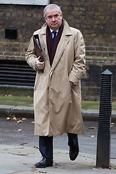 London, UK. 18th December, 2018. Geoffrey Cox QC MP, Attorney General, arrives at 10 Downing Street for the final Cabinet meeting before the Christmas recess. Topics to be discussed were expected to include preparations for a 'No Deal' Brexit.