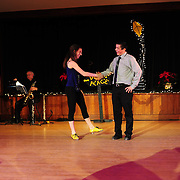 "Ayan Imai-Hall and Demi Remick perform in the show ""Ring in the Rhythm! A Jazz & Tap Holiday"" at The Dance Hall in Kittery, ME"