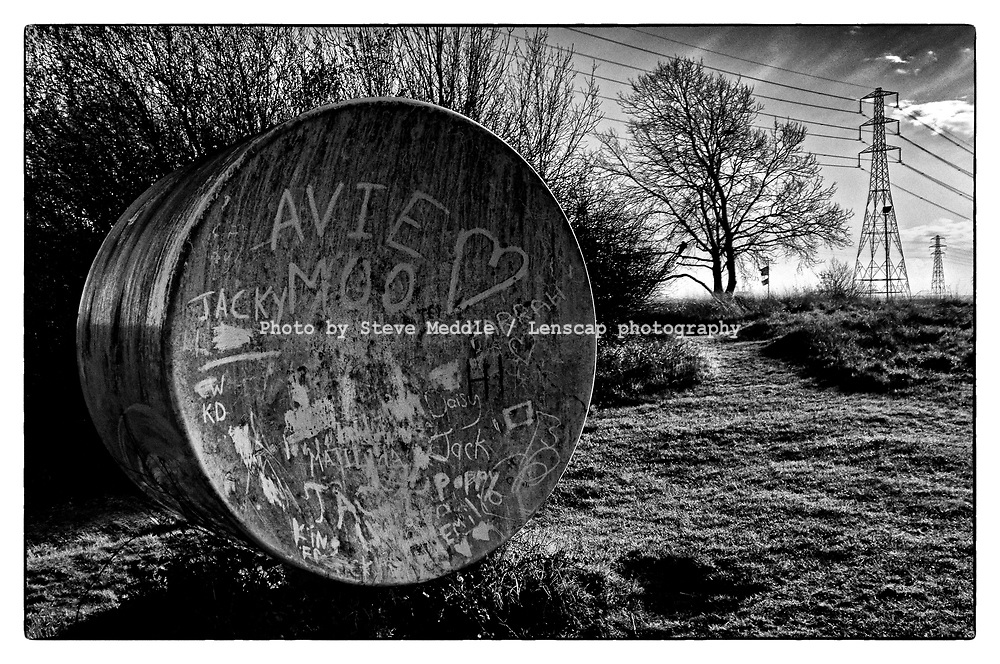 Acoustic Mirror at Wat Tyler Country Park formerly the site of The Pitsea Explosives Factory founded by Alfred Nobel in 1891 - Essex, England - November 2020